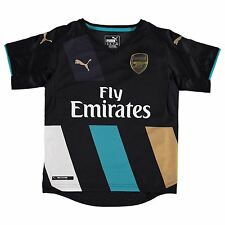 Puma Arsenal FC Third Jersey 2015 2016 Juniors Black/Gold Football Soccer Shirt