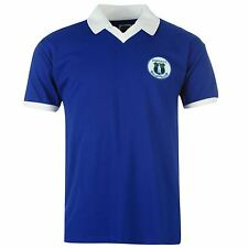 Everton FC 1978 Home Jersey Score Draw Mens Royal Retro Football Soccer Shirt