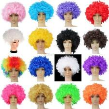 Halloween Rocker Curly Afro Circus Fancy Dress Hair Wig Xmas Party Disco Costume
