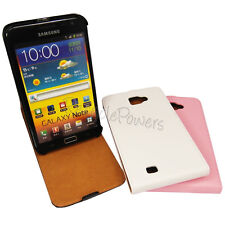 PU Leather Vertical Flip Wallet Case STAND Cover SAMSUNG GALAXY NOTE i9220 LOT