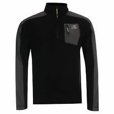 Karrimor Tundra ¼ Zip Fleece Sweater Mens Black Sweatshirt Jumper Pullover Top
