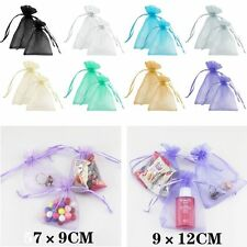 50/100Pcs Sheer Organza Wedding Favor Party Gifts Candy Bags Jewelry Pouches
