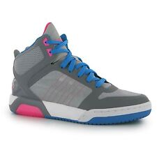 Adidas BB9TIS Hi Top Casual Trainers Womens Grey/Solar/Pink Sneakers Shoes