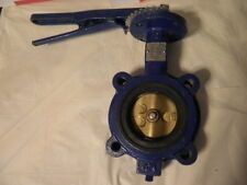 "NEW KEYSTONE FIGURE 222 3"" CAST IRON BUTTERFLY VALVE WITH BRASS DISC & HANDLE"