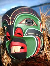 Northwest Coast First Nations carved MASK by Stanley C. Hunt, Pukwis, signed