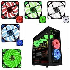 15 LED 120mm 3-Pin/4-Pin Computer Case Cooling Fan Mini CPU Cooler Quiet Edition