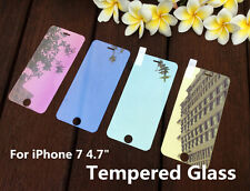 """Colored Tempered Glass Reflective Mirror Screen Protector Film For iPhone 7 4.7"""""""