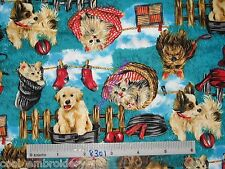 Cat Dog bird animals cotton quilting fabric **Choose Design or pillow panel