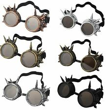 Vintage Victorian Steampunk Goggle Glasses Welding Cyber Punk Gothic Cosplay