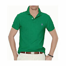 POLO Ralph Lauren $85 CUSTOM FIT MESH SHIRT TOP GREEN BLUE RED FREE SHIP Z245