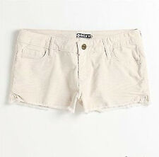 BRAND NEW ROXY WOMENS MINI  SHORT CASUAL SHORTS CORDUROY STRETCH PANTS
