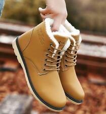 New Mens winter fur lined snow warm casual shoes ankle boots outdoor work boots