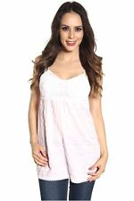 DEALZONE Attractive Knit Bust Decor Top S M L Small Medium Large Women Pink USA