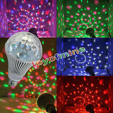 3W 6W E27RGB Crystal Ball Rotating LED Stage Light Bulbs Disco Party Bulb Lamp