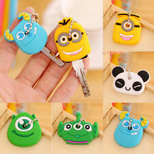Fashion Korea Cute Animal Soft Key Top Head Cover Chain Cap Keyring Accessory
