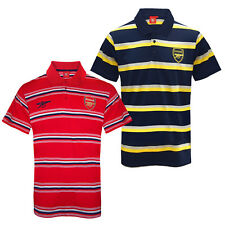 Arsenal Football Club Official Soccer Gift Mens Striped Polo Shirt