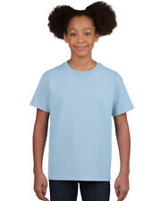 NEW BLANK PLAIN TSHIRT - Youth Light Blue - 100% cotton - Size S, M, L, XL
