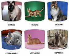 Cat Breeds Lampshade Table Lamp Shades Or Ceiling Light Shades Pendants Lighting