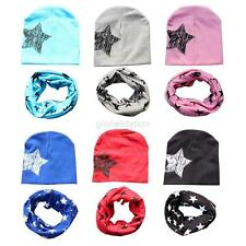 2pcs Toddler Soft Kids Girl Boy Baby Infant Winter Warm Cotton Hat Cartoon Caps