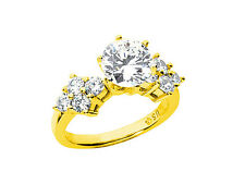 2.00Ct Round Cut Diamond Engagement Ring Cluster Accents 14k Gold GH SI1
