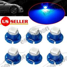 6x T4.7 T5 Neo Wedge 1-5050-SMD LED Blue AC Climate Controls Light Bulbs