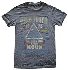 Pink Floyd Dark Side of the Moon Charcoal Burnout Men's T-Shirt New