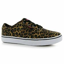 Vans Atwood Cheetah Trainers Junior Girls Cheetah Sports Shoes Sneakers Footwear