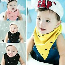 Double Layer Dribble Head Scarf Bibs Baby Kid Triangle Bibs Saliva Towel Bandana