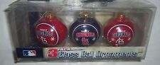 "Set of 3 MLB Property of St Louis Cardinals 2 1/2"" Diameter Glass Ornaments"