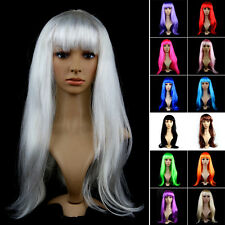 Halloween Womens Long Fancy Party Hair Wigs Cosplay Consume Full Wig Multi Color