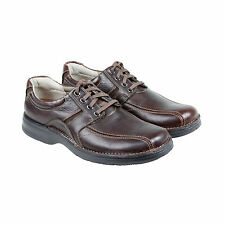 Clarks Northfield Mens Brown Leather Casual Dress Lace Up Oxfords Shoes
