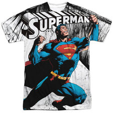 Superman Comic Cartoon TVSeries Movie Super Strength Adult 2-Sided Print T-Shirt