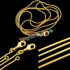2016 HOT Elegant Wholesale Lots 18K Gold Plated Snake Chain Necklace 16-30 inch