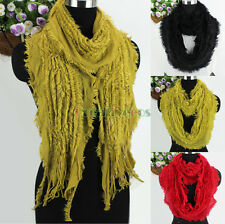 Fashion Knit Hollow Out Glitter Tassel Long Scarf/Infinity Scarf Lady Scarves