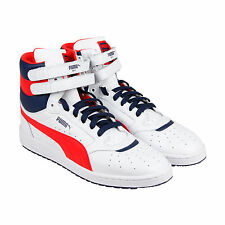 Puma Sky Ii Hi Fg Mens White Leather High Top Lace Up Sneakers Shoes