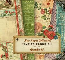 Graphic 45 TIME TO FLOURISH 12x12 Paper 2 Sheets per Month Options