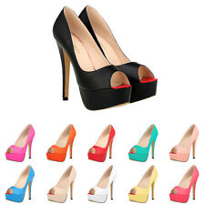 Sexy Peep Toe Platform Pump Women Thin High Heels Cocktail Party Wedding Shoes