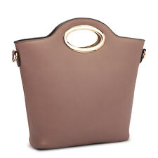 New 2 in 1 Womens Handbags Leather Tote Bag Satchel Shoulder Bag Double Purse
