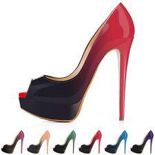 Womens Platform Pump Stiletto High Heels Sexy Peep Toe Pumps Party Wedding Shoes