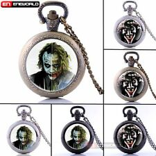 Batman Suicide Squad theme Quartz Pocket Watch Gift Necklace Retro Pendant Chain
