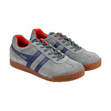 Gola Gola Harrier Premium Suede Mens Grey Suede Lace Up Sneakers Shoes