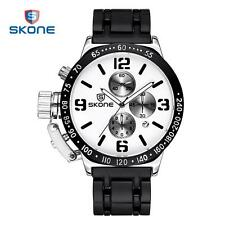 SKONE Mens Military Army Sports Watch Date Analog Quartz Male Wristwatches C9Z4