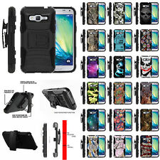For Samsung Galaxy J3 J310 Holster Clip + Stand Protective Dual Layer Armor Case