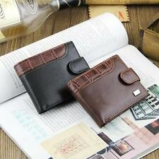 Classic Boys Mens Faux Leather Bifold Wallet Credit/ID Card Holder Coin Purse UK