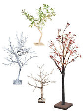 Pre Lit Christmas Twig Tree Decoration Snowy White Light Up LED Floor Table Top