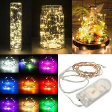 2-5M String Fairy Light 50 LED Battery Operated Xmas Lights Party Wedding Lamp