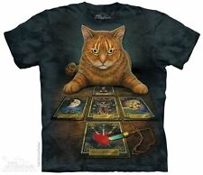 Cat The Card Reader The Mountain Adult Size T-Shirt