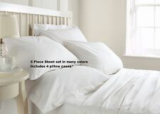 SUPER SOFT KING SIZE DEEP POCKET (6) PIECE SHEET SET BED SHEETS IN MANY COLORS