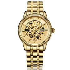 ROSDN Luxury Sapphire Gold Skeleton Dial Men Automatic Mechanical Watch&Box Q7J3