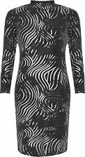 Womens Plus Turtle High Neck Dress Ladies Sparkle Glitter Long Sleeve Top